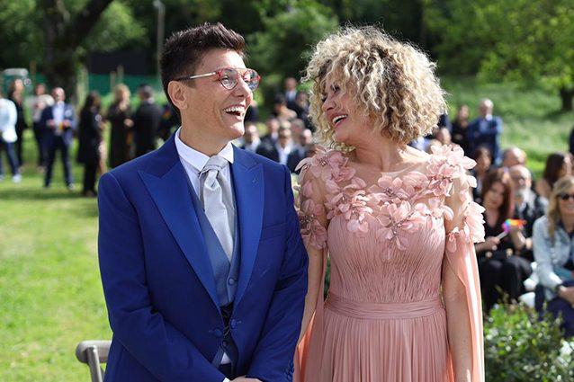 Imma Battaglia ed Eva Grimaldi nel giorno delle loro nozze