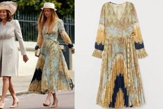 La fidanzata di James Middleton alle nozze reali in low-cost, abito da 57 euro per Alizee Thevenet