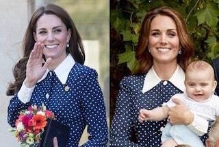 Kate Middleton splendida a pois ma l'abito è riciclato: ecco quando lo aveva già indossato