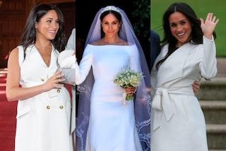 """Meghan Markle va sempre """"in bianco"""": nei momenti importanti sceglie solo il total white"""