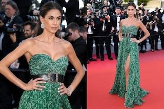 Festival di Cannes 2019, Melissa Satta incanta con l'abito smeraldo