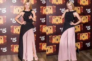 "Gonna o pantalone? L'originale abito di Michelle Hunziker per il lancio di ""All Together Now"""