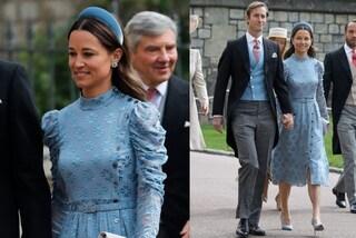 Pippa Middleton al Royal Wedding di Gabriella Windsor: abito azzurro e frontino per le nozze dell'ex