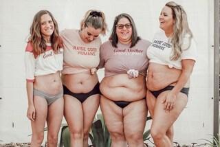 Mostrano con orgoglio la pancetta post-parto, così celebrano il corpo di ogni neo-mamma