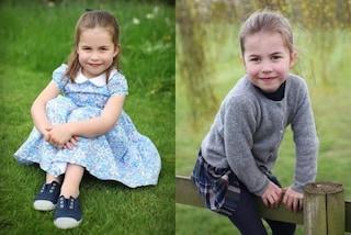 La principessa Charlotte compie 4 anni: gonna tartan e scarpe da ginnastica per le foto ufficiali