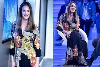 Silvia Toffanin: l'abito floreale per l'ultima puntata di Verissimo