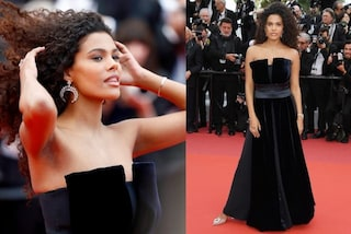 Tina Kunakey a Cannes 2019, la prima uscita da neomamma: a meno di un mese dal parto è già in forma
