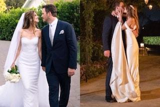 Le nozze di Katherine Schwarzenegger e Chris Pratt: la sposa sceglie l'abito con strascico e velo