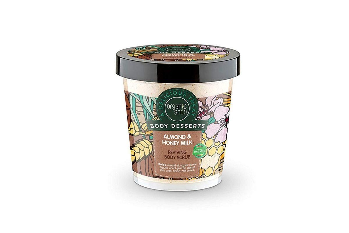 Organic Shop Body Dessert scrub corpo mandorle, miele e latte