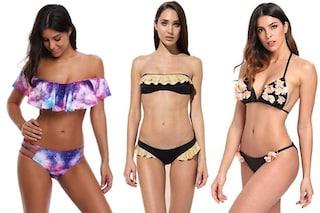 Costumi per seno piccolo 2019: i modelli di bikini push up, le fasce e i costumi interi