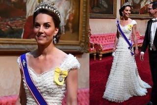 Kate Middleton principessa in bianco: al gala con Trump indossa la tiara di Lady Diana