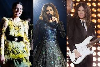 Laura Pausini tra cristalli, smoking e minigonna: i look glamour per il tour con Biagio Antonacci