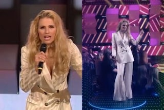 Michelle Hunziker cambia look a All Together Now: per la puntata 5 capelli mossi e pantaloni a zampa