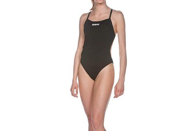 Costume olimpionico Arena nero con schiena scoperta, a partire da 27,81€