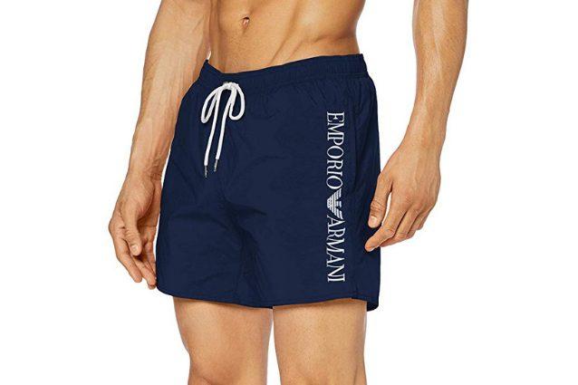 Boxer Emporio Armani blu con elastico e coulisse e logo della maison. A partire da 64,85€ su Amazon