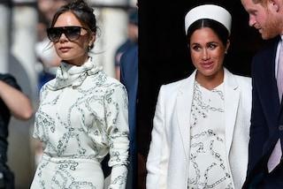 """Victoria Beckham """"imita"""" Meghan: alle nozze di Sergio Ramos con lo stesso abito della Markle"""