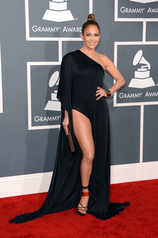 Con abito Anthony Vaccarello ai Grammy del 2013