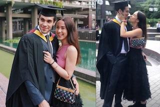 Aurora Ramazzotti alla laurea di Goffredo: gonna piumata e stivali bassi per festeggiare il fidanzato