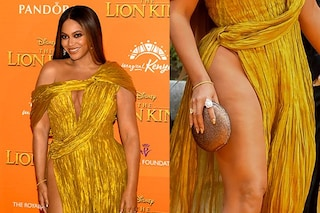 Beyoncè col maxi spacco dimostra che una donna può mostrare le gambe anche con la cellulite