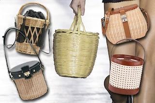 Il cestino di paglia non si usa più per il pic nic, è la borsa chic e originale dell'estate 2019