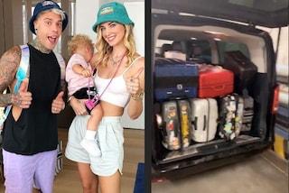 I Ferragnez danno il via alla loro estate: per una settimana di vacanza hanno più di 7 valigie