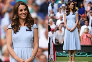 Kate Middleton chiude Wimbledon in azzurro: il look pastello per la premiazione è un incanto