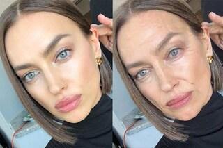 Top model invecchiate con FaceApp: da Irina Shayk a Cindy Crawford le foto prima e dopo