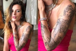 Bella Thorne ha un nuovo (ed enorme) tatuaggio sul braccio