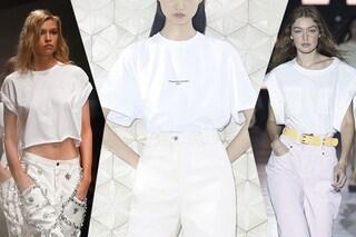 La maglietta bianca, il must dell'estate 2019: come indossare e abbinare il capo di tendenza