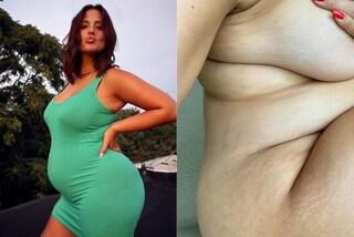 Ashley Graham incinta: in gravidanza posa nuda e mostra con orgoglio le smagliature