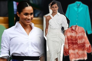 La camicia maschile è di moda e si abbina come fa Meghan Markle: 5 modi originali per indossarla