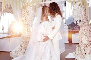 Heidi Klum, il sontuoso abito da sposa per il matrimonio con Tom Kaulitz