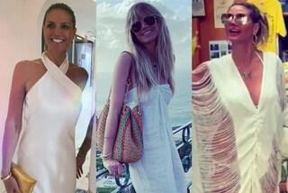 Heidi Klum a Capri, dopo le nozze segrete solo candidi abiti bianchi per il viaggio