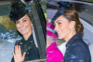 Kate Middleton a Balmoral con la regina: ricicla l'abito ma non rinuncia ai diamanti