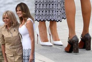 Melania Trump Vs. Brigitte Macron: tra le First Lady è sfida a colpi di scarpe griffate