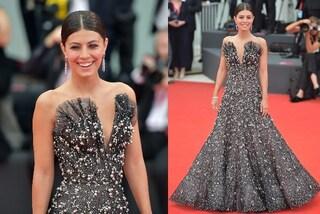 Alessandra Mastronardi a Venezia 2019 come una principessa: l'abito di tulle e perle è un incanto