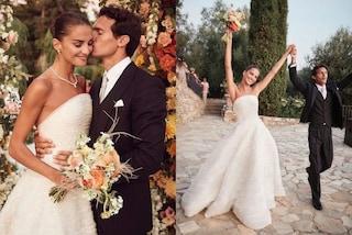 Riccardo Pozzoli sposa per la seconda volta Gabrielle Caunesil: l'abito bianco è un incanto