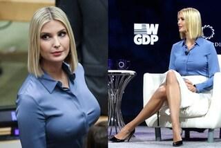 Ivanka Trump all'Onu in versione donna d'affari ma sotto la camicia non ha il reggiseno