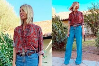 Alessia Marcuzzi a Temptation Island Vip: spopolano le camicie paisley e i look country chic