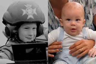 Baby Archie e il principe Harry (da bambino) a confronto: la somiglianza è incredibile