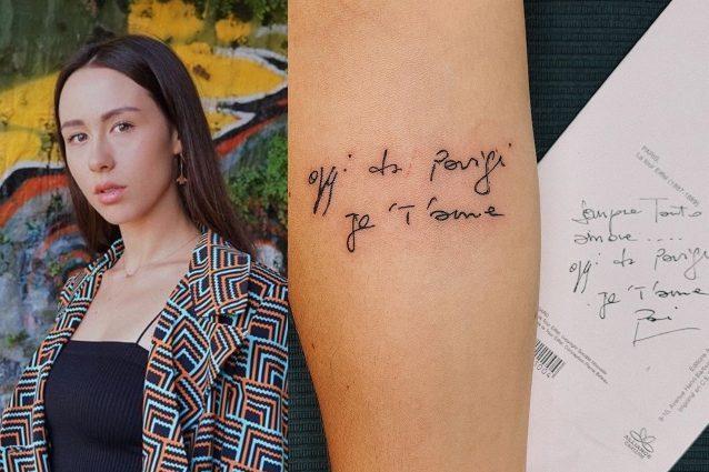 Aurora Ramazzotti, il nuovo tatuaggio è una dolce dedica a