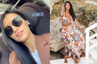Carolina Stramare in giacca e occhiali scuri: Miss Italia 2019 è trendy e ama le griffe