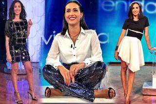 Caterina Balivo, la trasformazione a Vieni da me: addio abiti romantici, benvenute paillettes