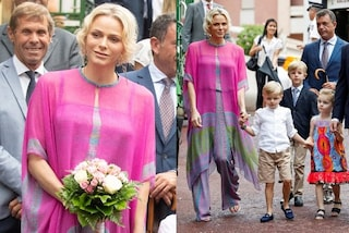 Charlene di Monaco in tunica e infradito: il look hippie-chic per il picnic è un incanto