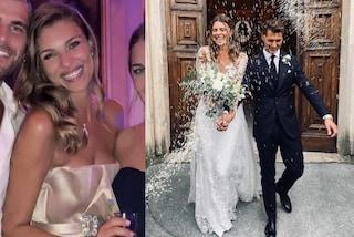 Il matrimonio di Cristina Chiabotto e Marco Roscio: due abiti da sposa da principessa per l'ex Miss