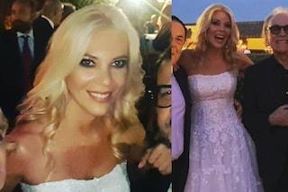 Eleonora Daniele sposa in bianco: matrimonio con abito da principessa e lungo velo