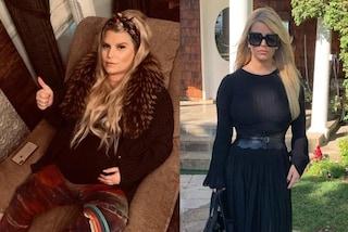 Jessica Simpson prima e dopo il parto: in 6 mesi ha perso più di 45 chili