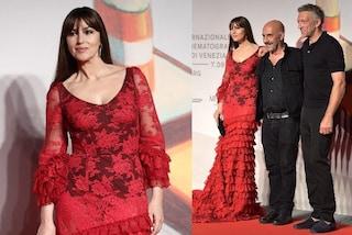 Venezia 2019, Monica Bellucci veste di rosso per incontrare l'ex Vincent Cassel