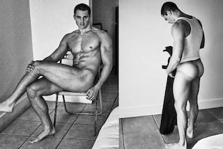 Pietro Boselli nudo e col nuovo look: muscoli in mostra e capelli rasati