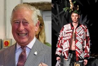 Il principe Carlo si dà alla moda: le ortiche del suo giardino diventano abiti e sfilano a Londra